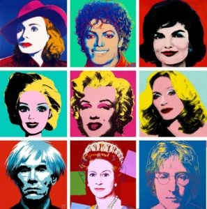 Some of Andy Warhol's famous celebrity portraits. Can you name every one?